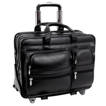 McKlein Clinton Leather Wheeled Case 8844