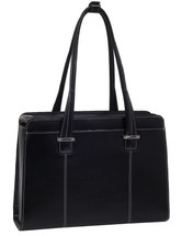 McKlein Alexis Leather Briefcase Handbag Back