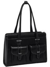 McKlein Alexis Leather Briefcase Handbag Black