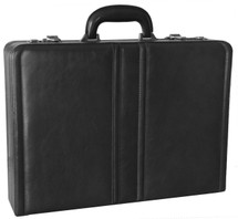 Mancini Luxurious Italian Leather Attache Case (Black)