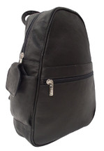 Piel Leather Tri-Shaped Sling Bag Black