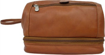 Piel Leather Utility Kit With Zip Bottom Saddle