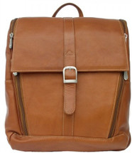 Piel Leather Slim Computer Backpack Saddle