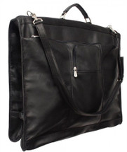Piel Leather Elite Garment Bag Black