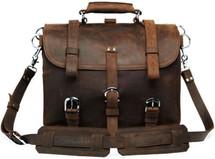 Pratt Leather Randall Dispatch Bag (Dark Espresso)