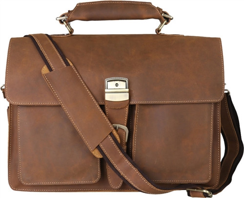 Pratt Leather Roussel Valise Vintage Mocha