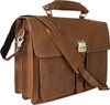 Pratt Leather Roussel Valise Vintage Mocha Profile