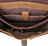 Pratt Leather Roussel Valise Vintage Mocha Compartments