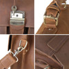 Pratt Leather Roussel Valise Vintage Mocha Closeups