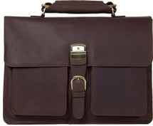 Pratt Leather Roussel Valise Dark Espresso