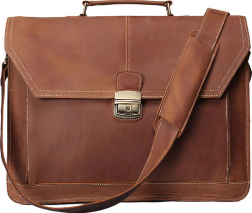 Pratt Leather Chancellor Brief (Vintage Mocha)