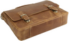 Pratt Leather Executive Business Bag (Vintage Mocha, Bottom)