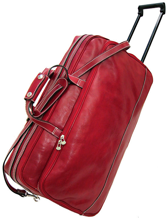Floto Milano Trolley Small Italian Leather Wheeled Travel Bag