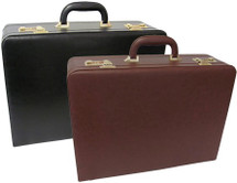 Amerileather Large Expandable Faux Leather Attache Case 2894