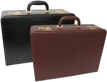 Amerileather Large Expandable Faux Leather Attache Case 2894