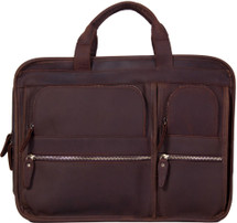 Pratt Leather Bradley Business Bag Dark Espresso
