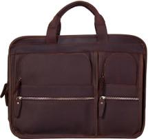 Pratt Leather Bradley Business Bag Dark Espresso