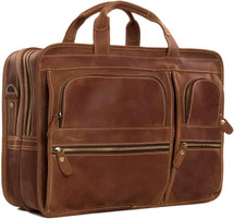 Pratt Leather Bradley Business Bag Vintage Mocha