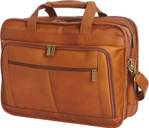 Edmond Leather Deluxe Large Expandable Briefcase US2123