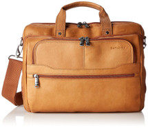 Samsonite Colombian Leather 2 Pocket Business Case Tan