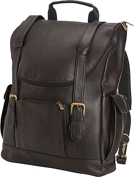 Edmond Leather Deluxe Leather Backpack Briefcase ME155