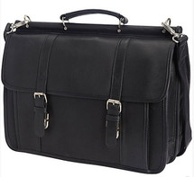 Edmond Leather Deluxe Classic Dowel Briefcase ME-739S