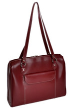 McKlein Glenview Leather Ladies' Laptop Case 9474 Red