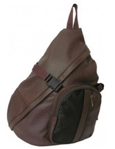 Amerileather APC Cross Body Sling Bag Dark Brown