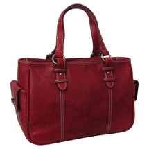 Amerileather Sophisticated Leather Shopper Bag 1831 Red