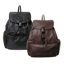 Amerileather Jumbo Leather Backpack 1518 - Black, Dark Brown