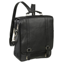 Amerileather Laptop Backpack Briefcase 2437 - Black