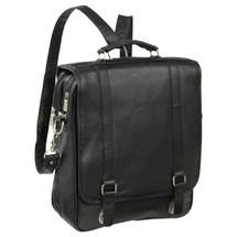 Amerileather Laptop Backpack Briefcase 2437 - Black