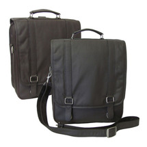 Amerileather Laptop Backpack Briefcase 2437 - Black, Dark Brown