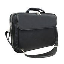 Amerileather Black Leather Notebook Computer Bag 85