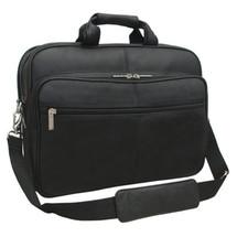 Amerileather Genuine Laptop Softside Briefcase 48 - Black