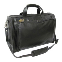 Amerileather 18-inch Moss Green Leather Carry on Weekend Duffel 2114 - Black