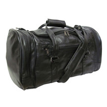 "Amerileather Leather 20-inch ""U"" Shaped Duffel 2111 - Black"