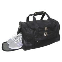 Amerileather APC Leather Duffel/Sports Bag 2112 - Black