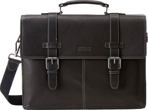 Kenneth Cole Reaction Flappy Go Lucky Laptop Briefcase 52982 Black