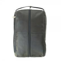 Piel Leather Deluxe Shoe Bag 2041 - Black