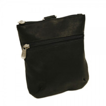Piel Leather Zippered Valuable Pouch 2143 - Black