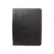 Piel Leather Zippered Padfolio 2282 - Black