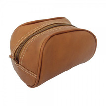 Piel Leather Cosmetic Bag 2405 - Saddle1