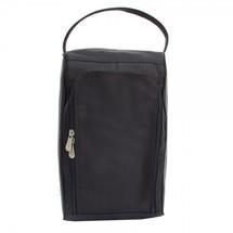 Piel Leather U-Zip Shoe Bag 2378 - Black