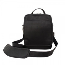 Piel Leather Traveler's Carry-All Bag 2630 - Black