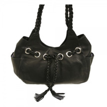 Piel Leather Braided Hobo 2748 - Black