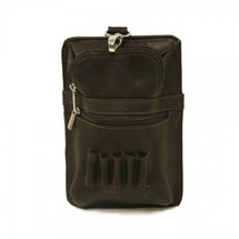 Piel Leather All In One Golf Pouch 2873 - Chocolate