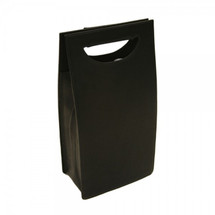 Piel Leather Double Wine Carrier 2877 - Black1