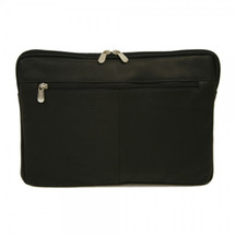 "Piel Leather 17"" Zip Laptop Sleeve 2894 - Black"