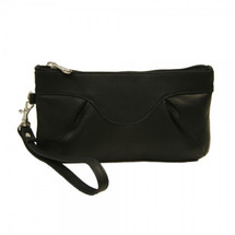 Piel Leather Rainbow Wristlet 2937 - Black